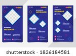 set of minimalist social media... | Shutterstock .eps vector #1826184581