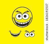 smile emotion icon vector... | Shutterstock .eps vector #1826192537