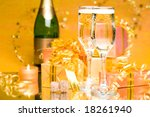 decoration with gift boxes and...   Shutterstock . vector #18261940