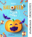 halloween party invitation ... | Shutterstock .eps vector #1826213321