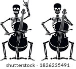 vector icon flat  skeleton with ...   Shutterstock .eps vector #1826235491
