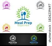 tree meal prep healthy food... | Shutterstock .eps vector #1826239697