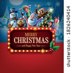 banner for christmas graphics...   Shutterstock .eps vector #1826240414