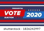 presidential election 2020 in... | Shutterstock .eps vector #1826242997