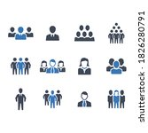 business people icon set 4 ... | Shutterstock .eps vector #1826280791