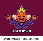 cartoon king pumpkin logo...