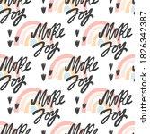 more joy seamless pattern.... | Shutterstock .eps vector #1826342387