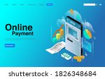 online smartphone payment... | Shutterstock .eps vector #1826348684