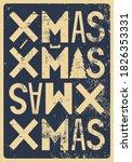 typographic grunge vintage... | Shutterstock .eps vector #1826353331