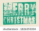 merry christmas. typographic... | Shutterstock .eps vector #1826353334