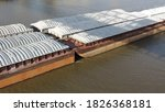 Push Boat On The Ohio River In...