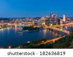 pittsburgh downtown skyline at... | Shutterstock . vector #182636819