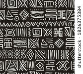 seamless stylized african... | Shutterstock .eps vector #1826375384