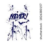 never print for t shirt graphic ... | Shutterstock .eps vector #1826380157