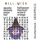 halloween word search puzzle... | Shutterstock .eps vector #1826390111