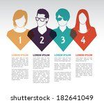 social media icons with group... | Shutterstock .eps vector #182641049