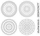 Set Of Circular Mosaic Paving...