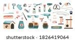 set of vector illustration.... | Shutterstock .eps vector #1826419064