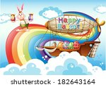 illustration of a happy easter... | Shutterstock .eps vector #182643164