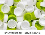 white and green plastic bottle... | Shutterstock . vector #182643641
