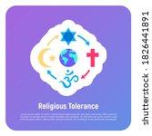 religious tolerance flat icon ...   Shutterstock .eps vector #1826441891