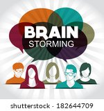 brainstorming with group of... | Shutterstock .eps vector #182644709