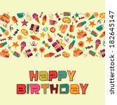 happy birthday | Shutterstock .eps vector #182645147