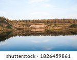 flooded overgrown sand pit near ... | Shutterstock . vector #1826459861