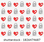Vector Pattern Of Key And Lock...