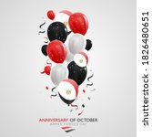 greeting card for anniversary... | Shutterstock .eps vector #1826480651