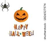 hallowen pumpkin on a white... | Shutterstock .eps vector #1826527574