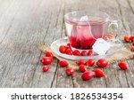 Glass Cup Of Rosehip Herbal Te...