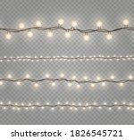christmas lights isolated... | Shutterstock .eps vector #1826545721