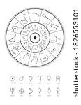 linear illustration of the...   Shutterstock .eps vector #1826553101