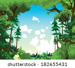 vector countryside background
