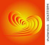 abstract heart pattern in... | Shutterstock .eps vector #1826555894