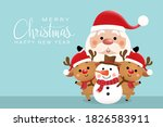 merry christmas and happy new... | Shutterstock .eps vector #1826583911