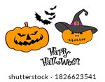 halloween greeting card with... | Shutterstock . vector #1826623541