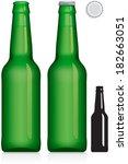 green beer bottle 330 ml  ... | Shutterstock .eps vector #182663051