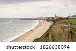 English Seaside Town And Beach