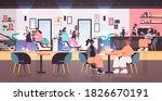 hairdressers making hair style... | Shutterstock .eps vector #1826670191