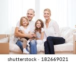 family  children  accomodation... | Shutterstock . vector #182669021