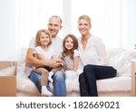 family  children  accomodation... | Shutterstock . vector #182669021
