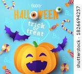 halloween party banner or... | Shutterstock .eps vector #1826694257