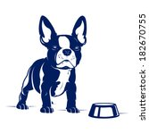 Cartoon French Bulldog. Vector...