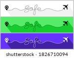 safe airplane flight. safety...   Shutterstock .eps vector #1826710094