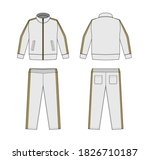 casual jersey suits  for sports ... | Shutterstock .eps vector #1826710187