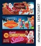 set of graphics for christmas...   Shutterstock .eps vector #1826718347