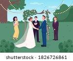 rural wedding ceremony flat...   Shutterstock .eps vector #1826726861