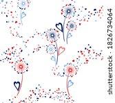 dandelion flowers cute vector... | Shutterstock .eps vector #1826734064